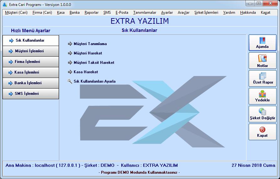 müşteri takip programı demo